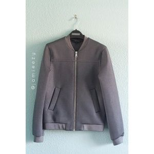 Topshop | Punch-Textured Bomber Style Jacket